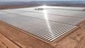 La centrale solaire Noor, située dans le désert du Sahara près de Ouarzazate, occupe une superficie de 160 hectares.