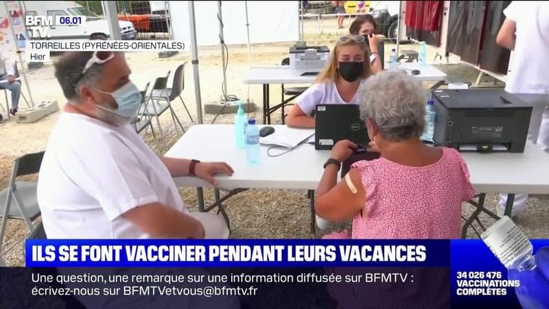 Près de Perpignan, des vacanciers se font vacciner à deux pas de la plage