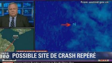 Un satellite chinois aurait observé une possible zone de l'accident en mer.