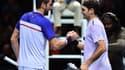 Marin Cilic et Roger Federer