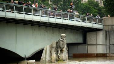 Le Zouave, au niveau du pont de l'Alma, à Paris.