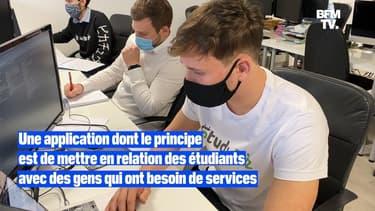 Il crée une application mettant en relation étudiants et personnes ayant besoin de services