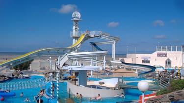 Le parc Aqualud, sur la plage du Touquet, en 2008.