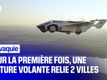 Pour la première fois, une voiture volante relie deux villes