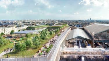 Un grand jardin sera créé sur le toit de la nouvelle aile de la Gare du Nord