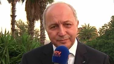 Laurent Fabius, ministre des Affaires étrangères, en duplex de Rabat sur BFMTV