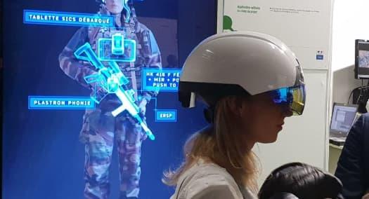 Un casque de réalité virtuelle pour fantassins.