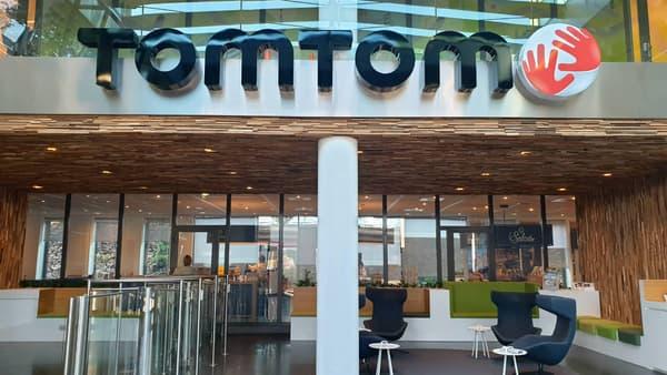 L'entrée du siège de TomTom, à Amsterdam.