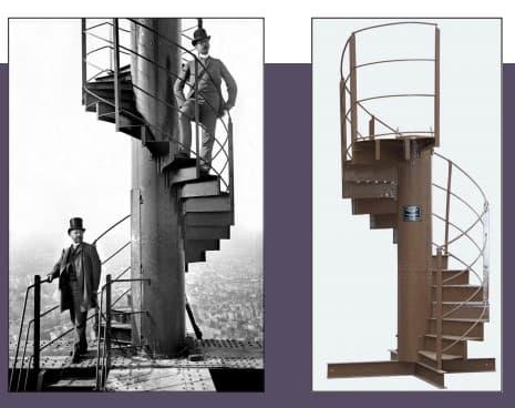 Le tronçon d'un escalier de la Tour Eiffel vendu aux enchères