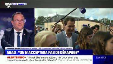 """Damien Abad sur les régionales en PACA: """"S'il y a un deuxième tour, nous devons soutenir Renaud Muselier"""""""