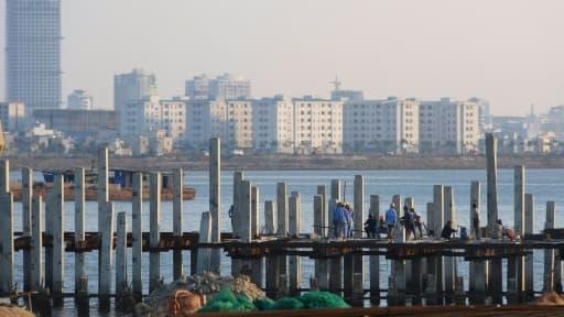 Le port de la ville de Danang au Vietnam, le 24 avril 2012. Plus de 700 kg de cornes de rhinocéros et de défenses d'éléphants y ont été saisis le 14 août 2015