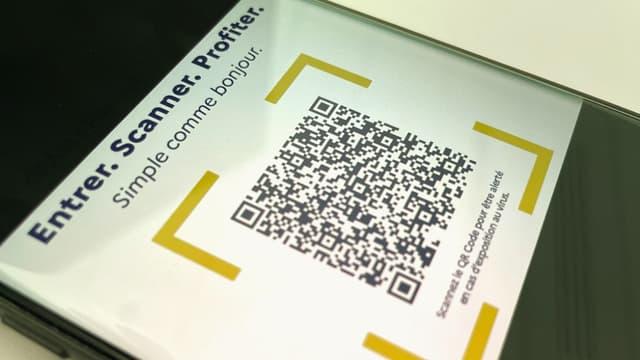 Un QR Code utilisé pour TousAntiCovid Signal, le carnet de rappel numérique