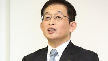 Fusaho Izumi lors d'une conférence de presse, ce 1er février