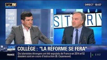 """La réforme du collège """"se fera"""" et entrera en vigueur à la rentrée 2016, a déclaré Najat Vallaud-Belkacem"""