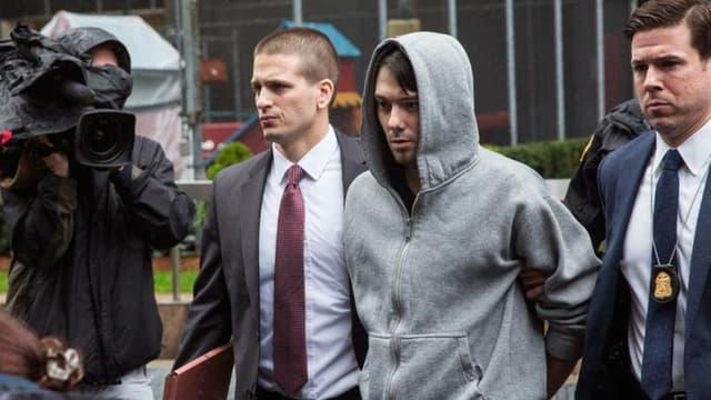 Martin Shkreli au moment de son arrestation.