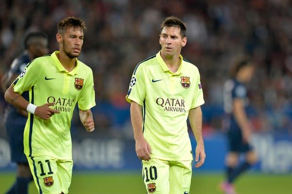 Neymar et Messi en septembre 2014 avec Barcelone
