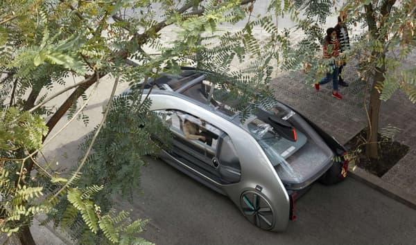 Dans la ville de demain, ce véhicule autonome se veut transparent. Pour ses occupants comme pour le public à l'extérieur qu'il ne veut pas déranger.