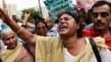 Une femme crie son désespoir lors d'une manifestation contre les violences faites aux femmes en Inde, en 2013.