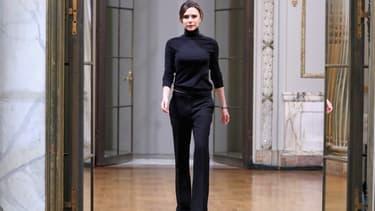 Victoria Beckham à l'issue de son défilé lors de la Fashion Week de New York le 11 février 2018