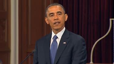 Barack Obama à Boston le 18 avril 2013.
