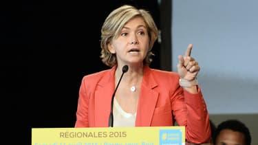 Valérie Pécresse en meeting pour les élections régionales, le 11 avril 2015
