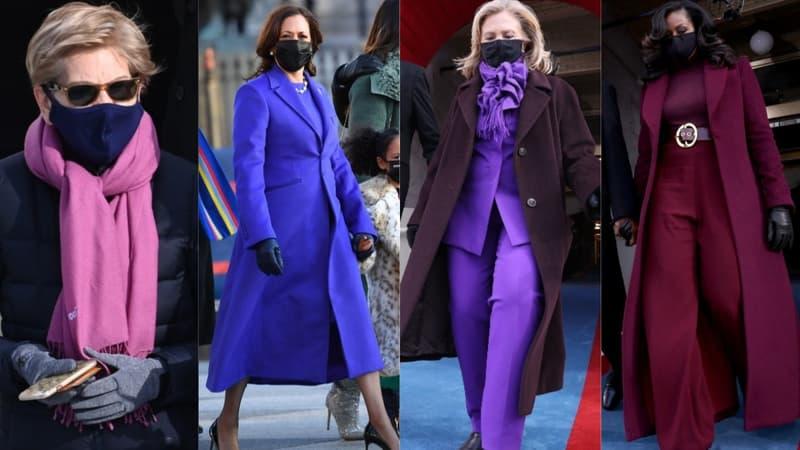 Investiture de Biden: pourquoi tant de femmes portaient-elles du violet?