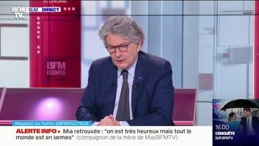 """Covid-19: Thierry Breton assure qu'""""une dette de cette nature ne sera pas supprimée"""""""