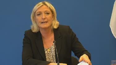Marine Le Pen au siège de son parti à Nanterre, le 25 mars 2014.
