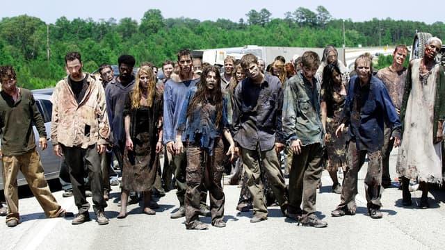 Des zombies dans la série The Walking Dead