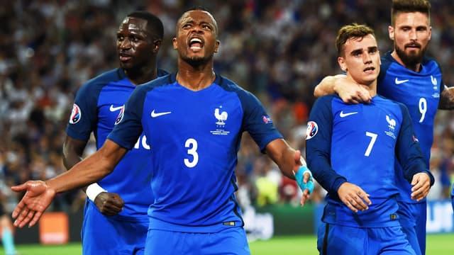 Patrice Evra et les Bleus en finale de l'Euro 2016