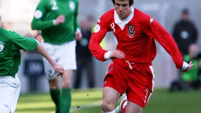 Gareth Bale à 17 ans, avec le pays de Galles