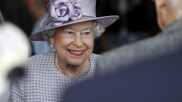 La reine Elizabeth II le 11 avril 2017 à Londres