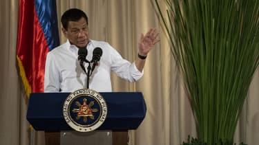 Le président philippin Rodrigo Duterte, lors d'un discours le 1er juin 2017 à Manille.