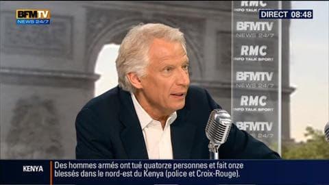 Dominique de Villepin face à Jean-Jacques Bourdin en direct