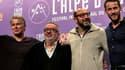Dominique Farrugia entouré des comédiens de 'Bis': Franck Dubosc, Kad Merad et Julien Boisselier