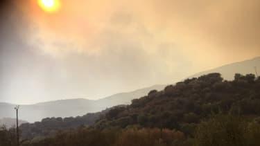 Un incendie s'est déclaré en Balagne en Haute-Corse le 22 octobre 2017