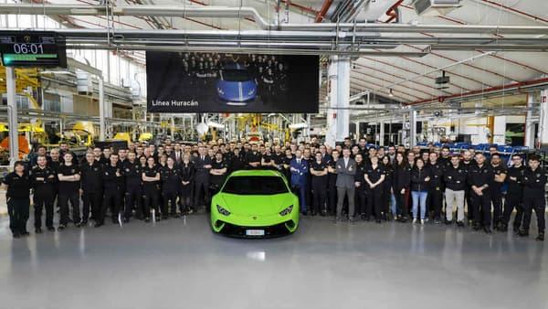 Lamborghini a produit cette semaine sa 10.000e Huracan.
