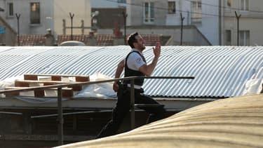 Tarek Boudali sur le tournage de 30 jours max.