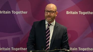 Le leader du Ukip Paul Nuttall, le 25 mai 2017 à Londres.