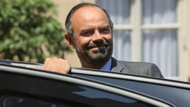 Le Premier ministre Edouard Philippe, quitte le palais de l'Elysée à Paris le 6 juin 2018