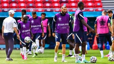 Les Bleus à l'entraînement, le 18 juin 2021.