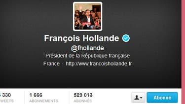 Le compte twitter de campagne de François Hollande
