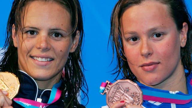 Laure Manaudou et Federica Pellegrini, les deux championnes seront passées par Philippe Lucas