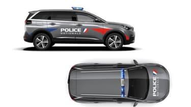 Gérald Darmanin a partagé ce visuel des nouveaux SUV Peugeot 5008 de la Police Nationale.