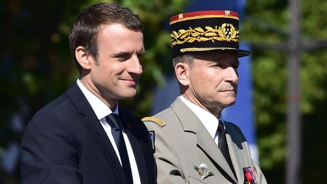 Emmanuel Macron et Pierre de Villiers le 14 juillet 2017.