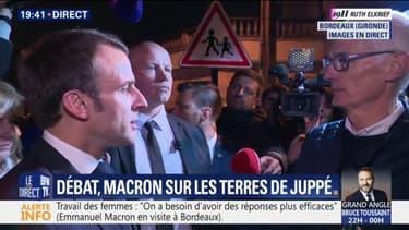 """Macron sur sa phrase """"Traverser la rue"""": """"Je ne suis pas le personnage qu'on a voulu caricaturer"""""""