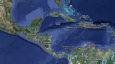Carte de situation des îles Caïmans.