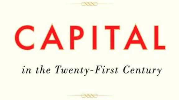 """La couverture de l'ouvrage de Thomas Piketty, """"Le Capital au XXIe siècle""""."""