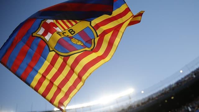 Drapeau du FC Barcelone