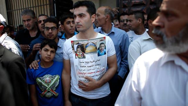 La mort d'un bébé palestinien, brûlé vif, avait provoqué un regain de tensions entre Palestiniens et Israéliens.
